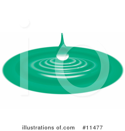Water Drop Clipart #11477 by AtStockIllustration