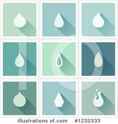 Water Drop Clipart #1232333 by elena