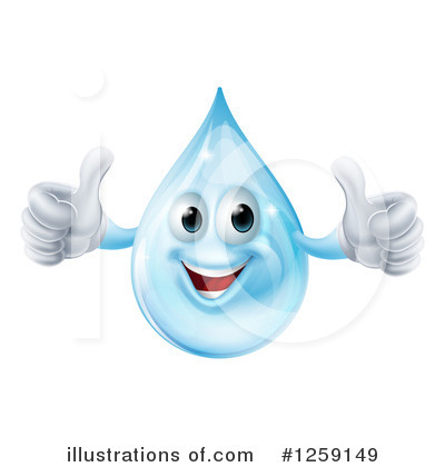 Water Drop Clipart #1259149 by AtStockIllustration