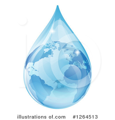 Water Drop Clipart #1264513 by AtStockIllustration