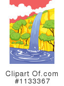 Waterfall Clipart #1133367 by Graphics RF
