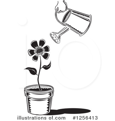 Royalty-Free (RF) Watering Can Clipart Illustration by David Rey - Stock Sample #1256413
