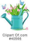 Royalty-Free (RF) Watering Can Clipart Illustration #40566