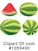 Watermelon Clipart #1059490 by Any Vector