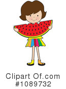 Royalty-Free (RF) Watermelon Clipart Illustration #1089732