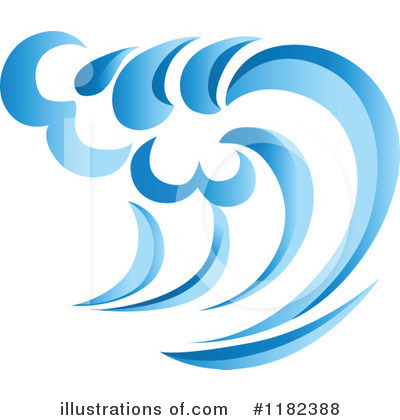 Waves Clipart #1182388 by Vector Tradition SM