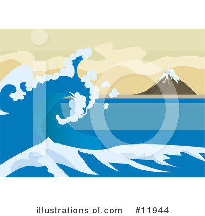 Tsunami Clipart #11944 by AtStockIllustration