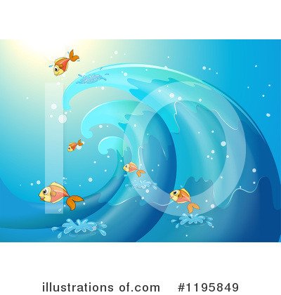Waves Clipart #1195849 by Graphics RF