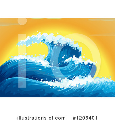 Waves Clipart #1206401 by Graphics RF