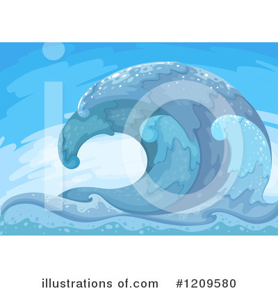 Waves Clipart #1209580 by Graphics RF