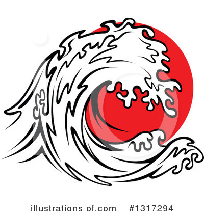 Tsunami Clipart #1317294 by Vector Tradition SM