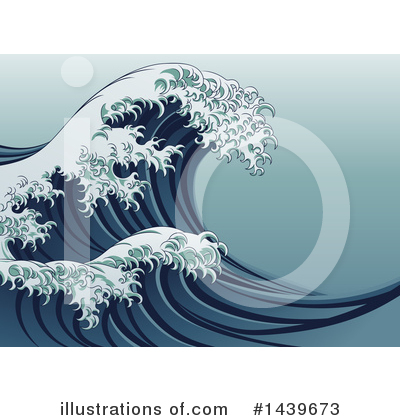 Tsunami Clipart #1439673 by AtStockIllustration