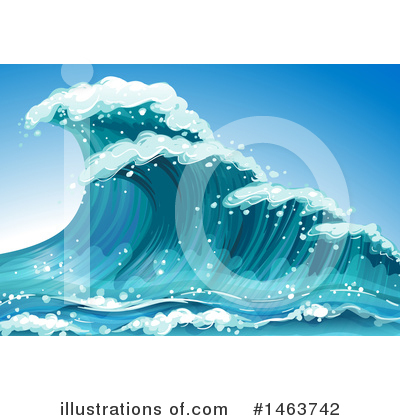 Waves Clipart #1463742 by Graphics RF