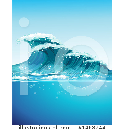 Waves Clipart #1463744 by Graphics RF