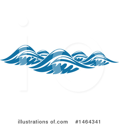Waves Clipart #1464341 by Vector Tradition SM