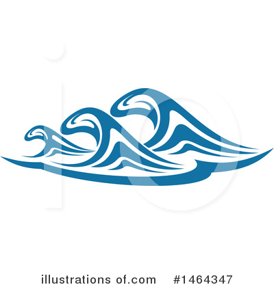 Waves Clipart #1464347 by Vector Tradition SM