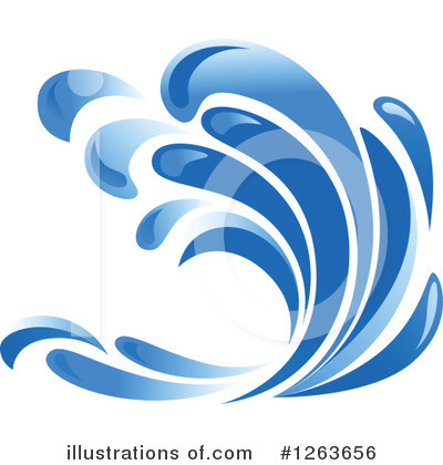 Waves Clipart #1263656 by Vector Tradition SM