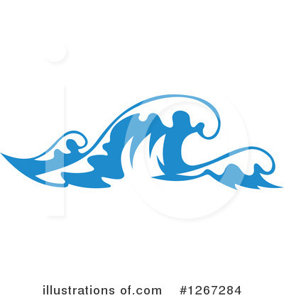 Waves Clipart #1267284 by Vector Tradition SM