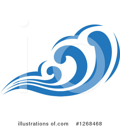 Waves Clipart #1268468 by Vector Tradition SM