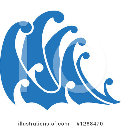 Waves Clipart #1268470 by Vector Tradition SM