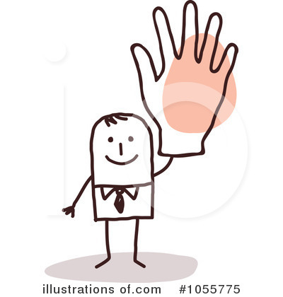 Royalty-Free (RF) Waving Clipart Illustration by NL shop - Stock Sample #1055775