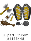 Royalty-Free (RF) weapons Clipart Illustration #1163448