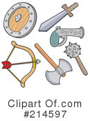 Royalty-Free (RF) Weapons Clipart Illustration #214597
