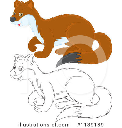 Weasel Clipart #1139189 by Alex Bannykh