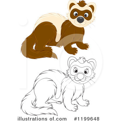 Weasel Clipart #1199648 by Alex Bannykh