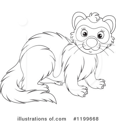Weasel Clipart #1199668 by Alex Bannykh