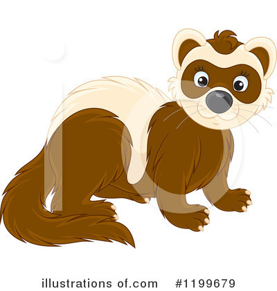 Weasel Clipart #1199679 by Alex Bannykh