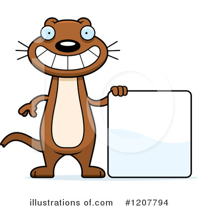 Weasel Clipart #1207794 by Cory Thoman