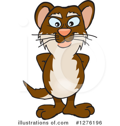 Weasel Clipart #1276196 by Dennis Holmes Designs