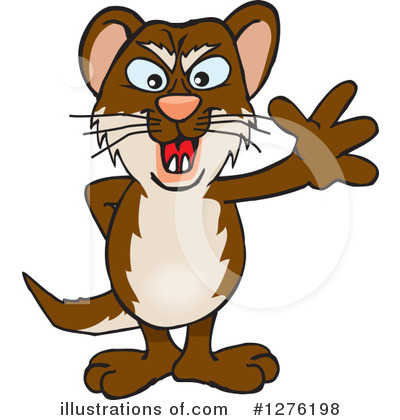 Royalty-Free (RF) Weasel Clipart Illustration by Dennis Holmes Designs - Stock Sample #1276198