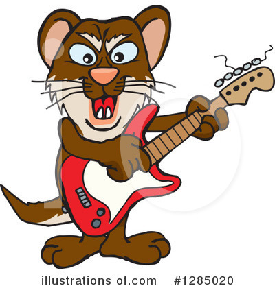 Weasel Clipart #1285020 by Dennis Holmes Designs