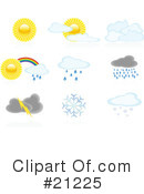 Royalty-Free (RF) Weather Clipart Illustration #21225