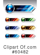 Royalty-Free (RF) Web Site Buttons Clipart Illustration #60482