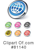 Royalty-Free (RF) web site buttons Clipart Illustration #81140