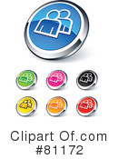 Royalty-Free (RF) web site buttons Clipart Illustration #81172