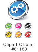 Royalty-Free (RF) Web Site Buttons Clipart Illustration #81183