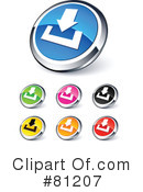Royalty-Free (RF) web site buttons Clipart Illustration #81207