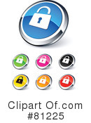 Royalty-Free (RF) web site buttons Clipart Illustration #81225