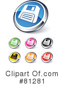 Royalty-Free (RF) web site buttons Clipart Illustration #81281