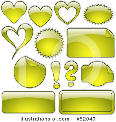 Royalty-Free (RF) Web Site Icons Clipart Illustration by dero - Stock Sample #52049
