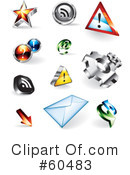 Royalty-Free (RF) Web Site Icons Clipart Illustration #60483