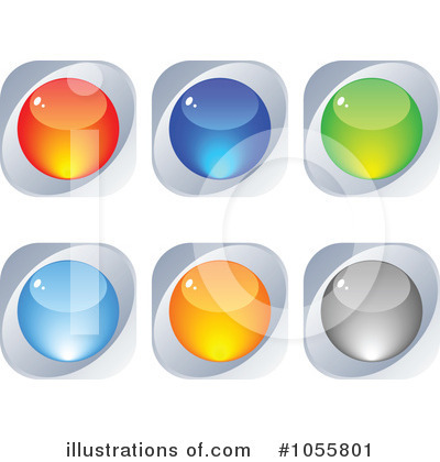Royalty-Free (RF) Website Button Clipart Illustration by Andrei Marincas - Stock Sample #1055801