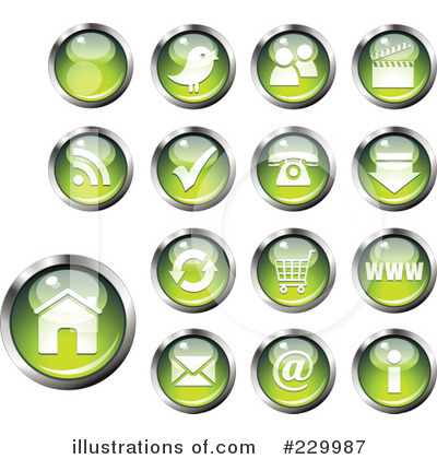Royalty-Free (RF) Website Button Clipart Illustration by Anja Kaiser - Stock Sample #229987