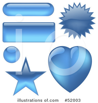 Royalty-Free (RF) Website Buttons Clipart Illustration by dero - Stock Sample #52003
