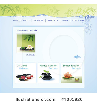 Website Template Clipart #1065926 by Eugene
