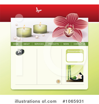 Website Template Clipart #1065931 by Eugene